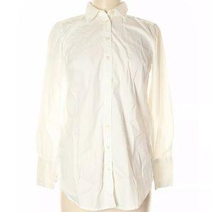 Ann Taylor XS White bottom up shirt Mint